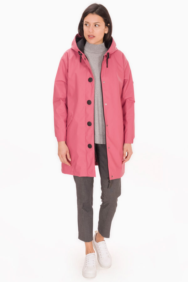 KASTE OUD ROZE DAMES WINTER REGENJAS - TANTÄ RAINWEARKaste dames winterjas waterdicht