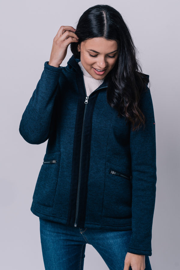 NAVY DAMES FLEECE VEST MET BREDE BAND - BATELA