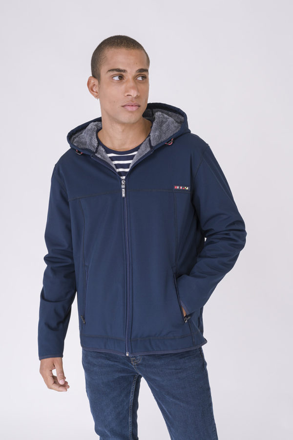 NAVY HEREN SOFTSHELL VEST