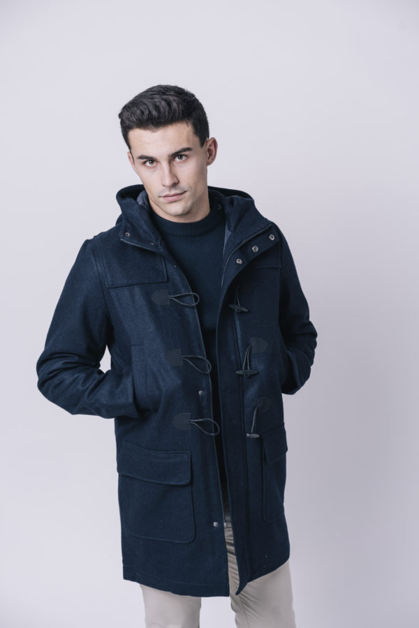 NAVY TRENCH PEACOAT HEREN