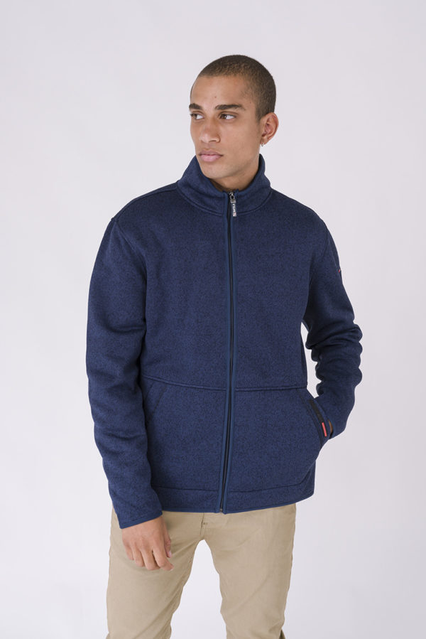 NAVY HEREN FLEECE VEST