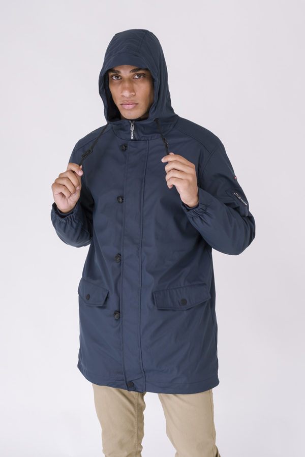 DRIMMELEN NAVY LANGE HEREN WINTER REGENJAS