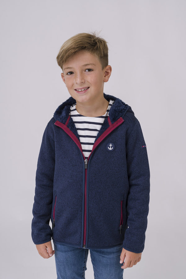 NAVY KINDER FLEECE VEST