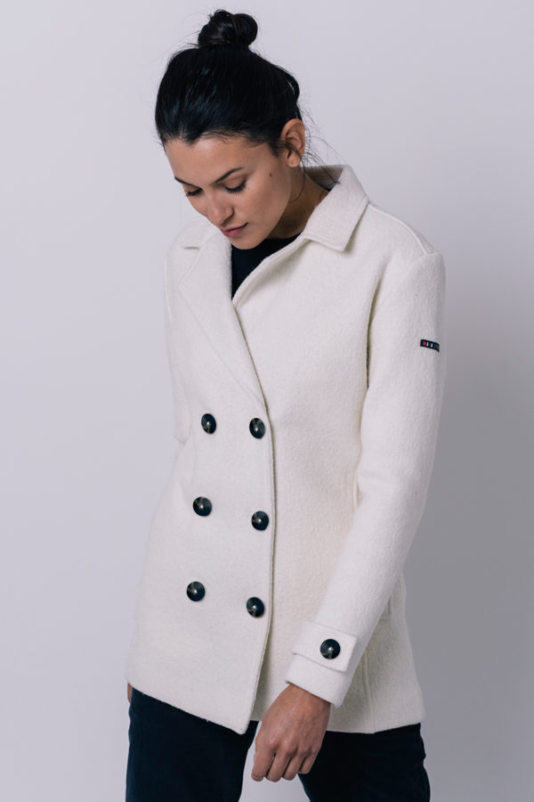 WITTE DOUBLE BRESTED PEACOAT - BATELA
